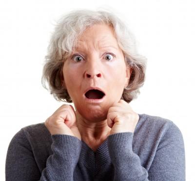 Frightened Older Lady